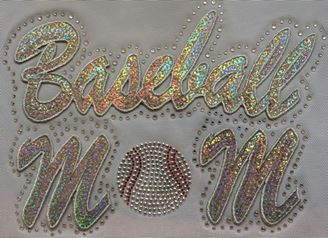 Baseball Mom Sequin and Rhinestone