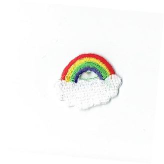 Small Rainbow with White Cloud
