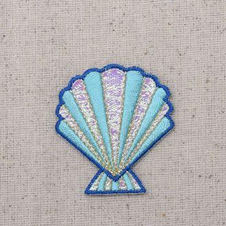 Blue Shimmery Seashell