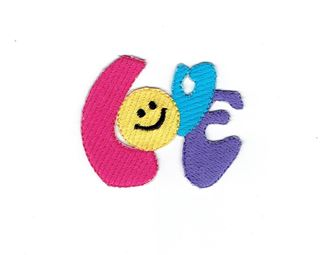 Smiley Face Emoji Colorful Love