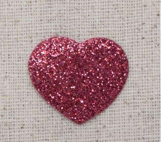 Glitter Heart - Pink