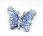 BUTTERFLY SMALL BLUE & SILVER IRON ON PATCH 1115857-R