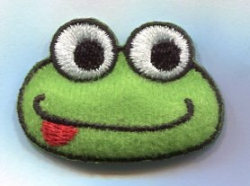 Small Puffy Green Frog Face