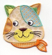 CAT HEAD IRON ON APPLIQUE 1516182-A