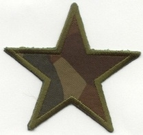 MILITARY STAR LARGE IRON ON PATCH APPLIQUE 620747-A