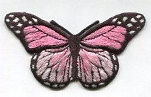 BUTTERFLY PINK PRESS ON PATCH 633325-D