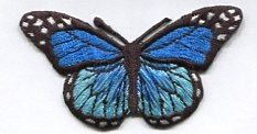 BUTTERFLY BLUE PRESS ON PATCH 633325-I