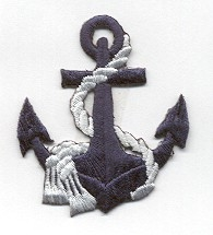 Anchor - Navy Blue - White Rope