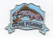 FISHING GONE FISHING IRON ON APPLIQUE 695727-A SPECIAL ORDER