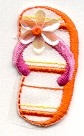 FLIP FLOP ORANGE SMALL IRON ON PATCH 696472-BL