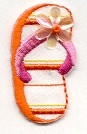 FLIP FLOP ORANGE SMALL IRON ON PATCH 696472-BR