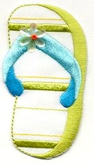 FLIP FLOP GREEN LARGE IRON ON PATCH 696473-AL
