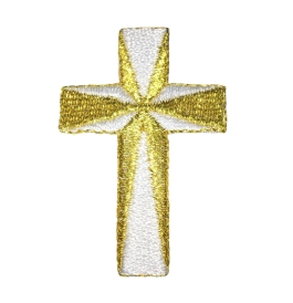 Cross - White/Gold
