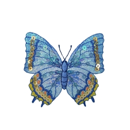 Butterfly - Blue/Yellow Sequin