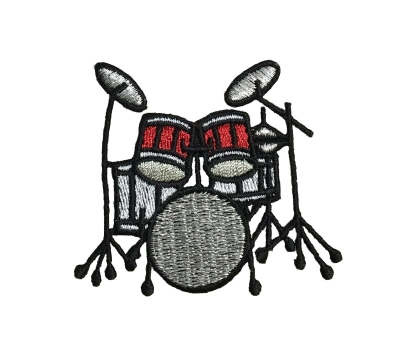 Drum Kit - Red/Black