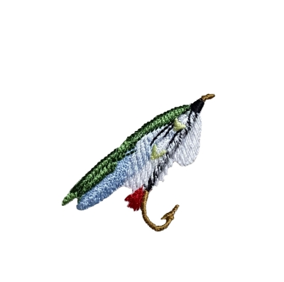 S Fly Fishing Lure - Green/Blue