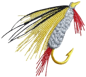 L Fly Fishing Lure - Yellow/Gray