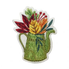 Watering Can with Leaves