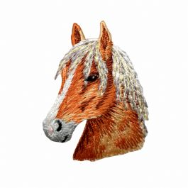 Chestnut Horse Head Facing Left