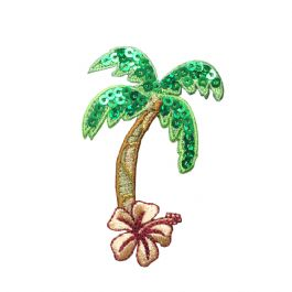 Sequin Palm Tree with Flower
