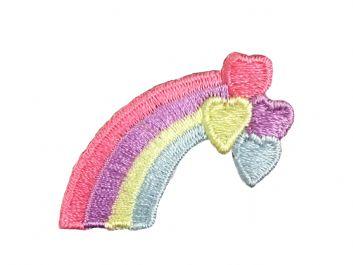 Pastel Rainbow + 4 Hearts