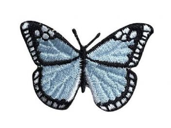 Small - Light Blue/Black Butterfly