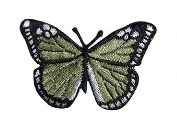Olive Green/Black Butterfly 2