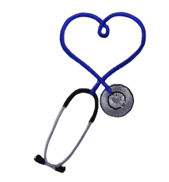 Blue Heart Stethoscope