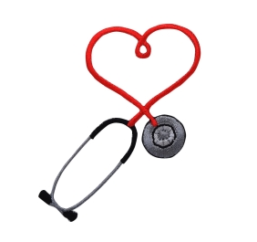 Red Heart Medical Stethoscope