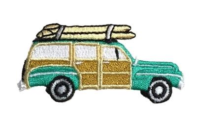 Teal Green Woodie - Surfboards