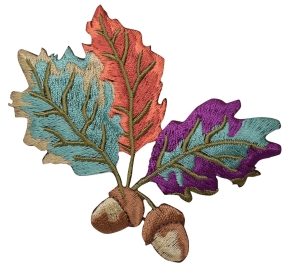 Acorns - Colorful Leaves