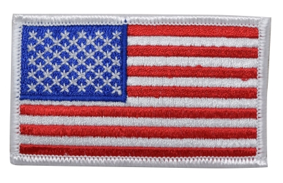 American Flag - White Edge
