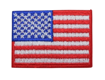American Flag with Red Border