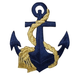 Anchor - Navy Blue/Gold Rope