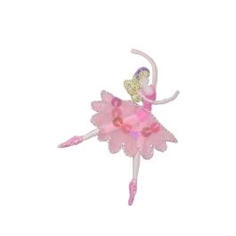 Ballerina dancer with pink sequin