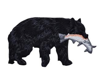 Black Bear Catching Fish