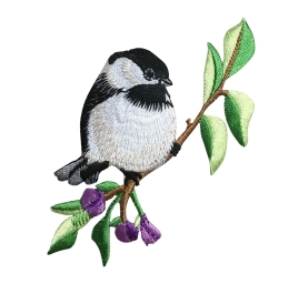BIRD CHICKADEE IRON ON PATCH 697227-A