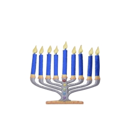 Blue Menorah Candles - Hannukah
