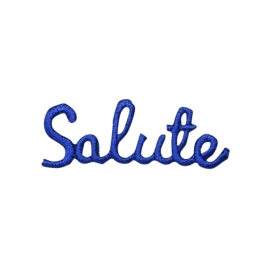 Blue Salute Greeting