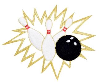 Bowling Ball with Pins Crashing