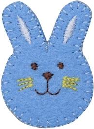 Blue Bunny Face