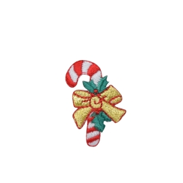 Candy Cane - Gold Bow