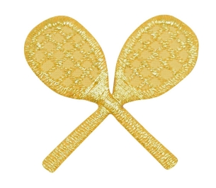 Crossed Tennis Rackets Gold