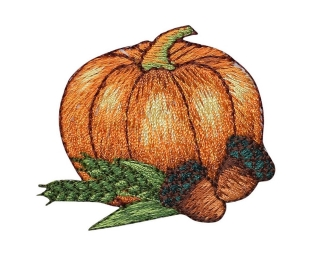 Fall Pumpkin with Acorns