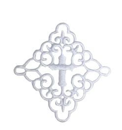 Fleur Swirl Cross in Square 3