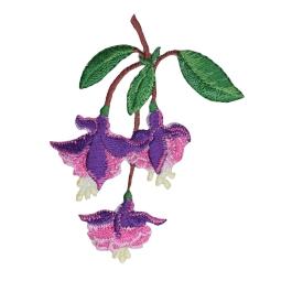 Fuchsia Flowers Lady's Ear Drops