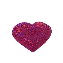 Sequin Heart - Hot Pink
