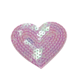 Sequin Heart - Pink