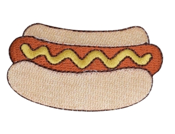 Hot Dog in Bun with Mustard