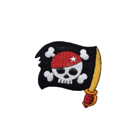 Pirate Skull - Sword Flag